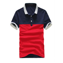 Red and Dark Blue Color Combination Polo Business Plain Polo Shirt