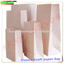 Gusset snack packaging paper bag/Fast food packaging paper bag/Paper bread packaging bag