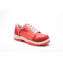 Couro liso estilo casual & sapatas de segurança de couro camurça (NP2002)