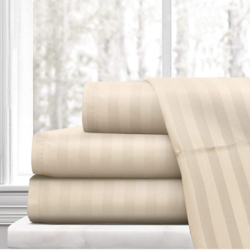 Βαμβάκι 1cm Stripe Bed Sheet 300TC