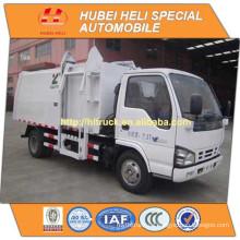 Japan Technologie 4x2 4M3 kleine hängende Eimer Müllwagen 98hp heißen Verkauf für den Export
