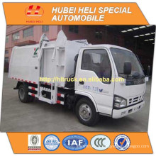 Technologie japonaise 4x2 4M3 petit godet suspendu camion à ordures 98hp vente chaude pour exportation