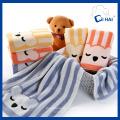 Fournisseur de serviettes de visage d'ours en coton 100% coton