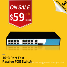 Promotion price OEM 24V 12v wifi access point passive POE switch 16 port