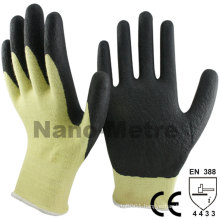 NMSAFETY cut resistante Aramid Fibres caoted nitrile foam work gloves