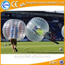 Bolas de bolha de ar para le futebol, esfera de bolha de futebol tamanho humano