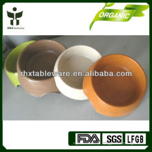 Tazón de perro de fibra de bambú biodegradable