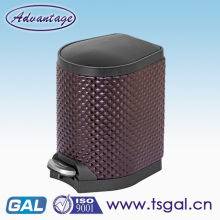 PU leather material waste bin