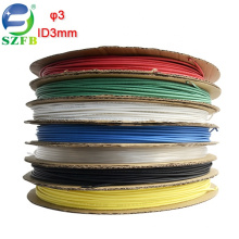 Feibo polyolefin colorful electric wires insulated diameter 3mm thin wall heat shrink tubing