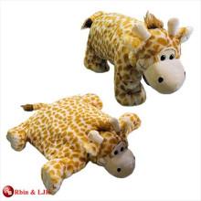 Almohada encantadora promocional de encargo de la jirafa de la felpa