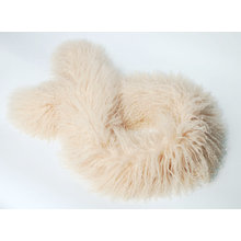 Mongolian Lamb Fur Scarf Light Beige