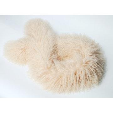 Mongolian Lamb Fur Scarf Light Beige