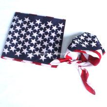 Promocionais algodão impresso bandeira quadrada bandana bandana