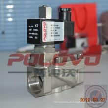 Tipo de pistão piloto válvula de solenóide de água normalmente aberta de 1 polegada