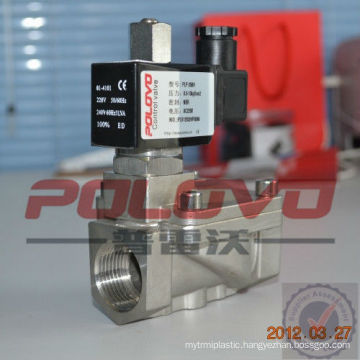 Pilot piston type 1 inch normally open water solenoid valve