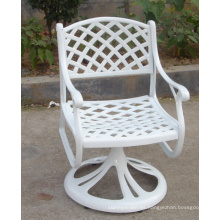 Muebles metálicos de jardín de aluminio fundido conjunto silla giratoria