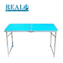 Лучшие продажи прочный алюминиевый регулируемая высота складной стол для кемпинга