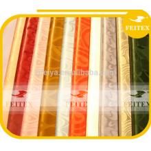 Tela en línea impresa tela africana de la tienda al por mayor del brocado de Guinea del poliéster para el vestido de la endecha