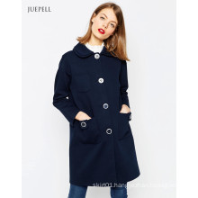 Oversized Winter Women Coat with Doulbe Collar