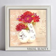 Flor de la vendimia en marco del montaje del florero Photo Free