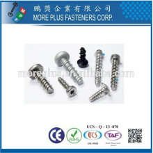 Taiwan Stainless steel 18-8 Chrome plated steel Nickel plated steel Copper Brass PT 30 Degree Double Lead Thread Screws
