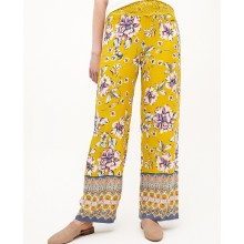 100% viscose flower printed with embroidery women's pant