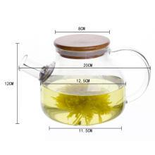Théière en verre avec infuseur en verre borosilicate haute