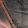Película transparente de rejilla negra tejida