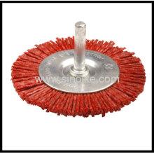 Nylon Wheel Brush With Shank D40/50/63/75/100mm W6mm