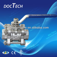 3-PC Ball Valve Full Port 1000WOG ISO -Direct Mounting Pad China Manufacture
