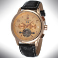 Mineral Glass Stainless Steel Back Watch Custom Logo
