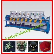 Sapato / t-shirt / boné / bordado plano 8 cabeças máquina de bordar computadorizada preço prático