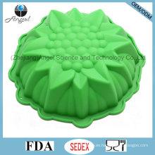 """Holiday tamaño mediano Flor 3D muffin de silicona pan de hornear Sc55 (9 """")"""