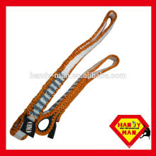 Rock Climbing Sling with rubber with Elastic Band Nylon Sling