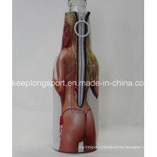 Neoprene Beer Bottle Cooler with Zipper Closed