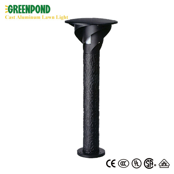 Black Cast Aluminum Lawn Light