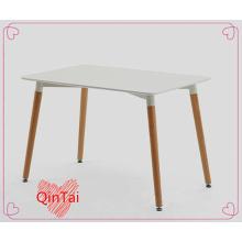 mesa rectangular de QinTai MDF mesa asiento patas de madera de haya