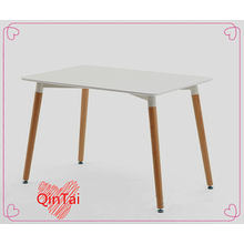 rectangle table from QinTai MDF table seat beech wood legs