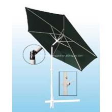 Aluminium Advertisable Black Fabric Tilt Straight Umbrella