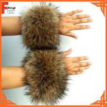 Raccoon Fur Cuff para fabricante de prendas de vestir