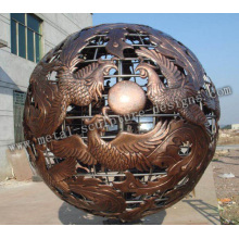 Outdoor Ball Metal Sculpture