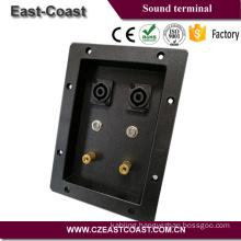 speaker terminal cup box with binding post/speakon jack
