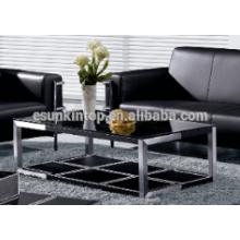 Tapicería de cuero usada de la tabla del té de la oficina. Mesa de madera de alta calidad para la venta (MRX-906 #)