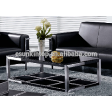 Used office tea table leather upholstery. High quality wood table for sale (MRX-906#)