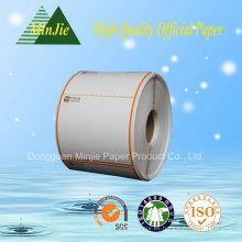 Tipo de papel de registro de efectivo BPA libre de 80 mm de ancho rollo impreso de papel térmico