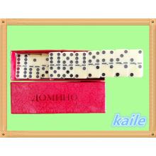 Venta caliente paquete de domino doble 6 en caja de papel