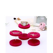 Rot Zylindrische Schmuck Armreif / Armband Display Stand Großhandel (DST-PV-V1)