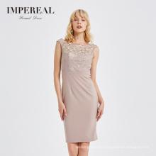 New style O neck embroidered women midi maxi dress