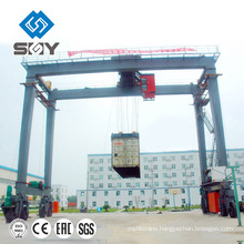 Newly outside used 30.5-40.5ton RTG Rubber Tyre GantryCrane for sale