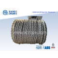 8 Strand 72mm 220m Length Polyester Mooring Rope